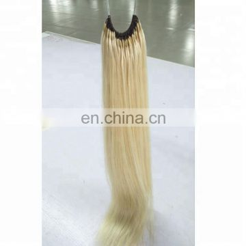 Hot Selling Cotton Thread Blonde Human Hair Extensions No Tangle No Shedding Brazilian Knot Hair Extension