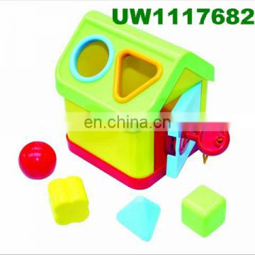 Shape Sorting Cube - Classic Wooden Toy With 12 Shapes