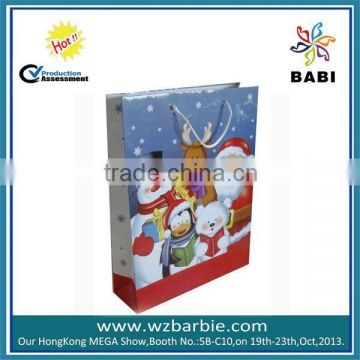 xmas ivory board carrier bags