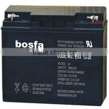 sealed lead acid battery 12v 20ah for selectric wheelchair electric bike