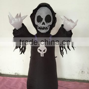 Halloween Grim Reaper Inflatable Party Prop Holiday Yard Decor Collectibles Gift                                                                         Quality Choice