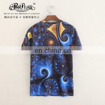 Peijiaxin Fashion Design Casual Style Full Digital Printing Sublimation T shirt for Men