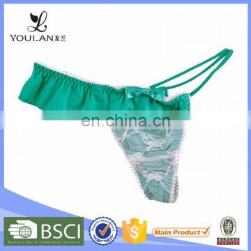 China Wholesale Breathable Young Girl Lace underwear models women thongs