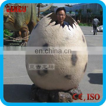 Theme park new design fiberglass dinosaur egg toy