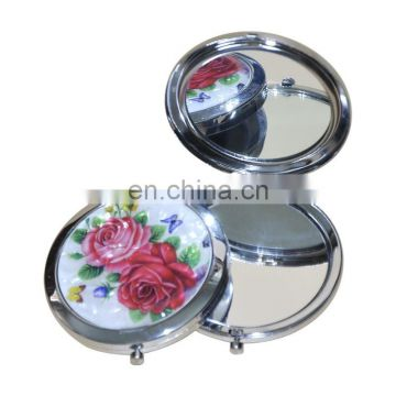 Popular squre cosmetic mirror gifts with epoxy doming