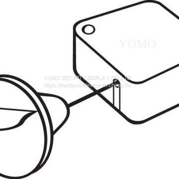 Square-Shaped Anti-Theft Retractable Tethers with Loop Cable End