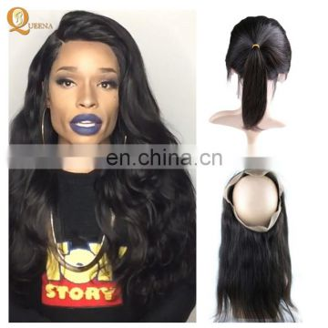 Straight Human Hair 360 Lace Frontal Vendor Distributors Brazilian Hair 360 Lace Frontal Closure
