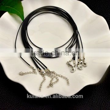 Wholesale black wax cotton cord necklace for pendant bracelet jewelry making 92305