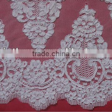 White Re-embroidery French Lace Border Lace