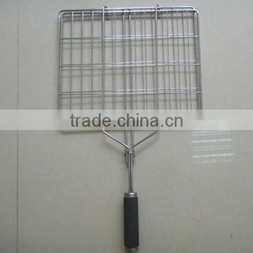 RH-BQ01 Charcoal bbq vegetable wire mesh grill net