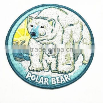 bulk factory price lovely polar bear ,fish embroidery patch