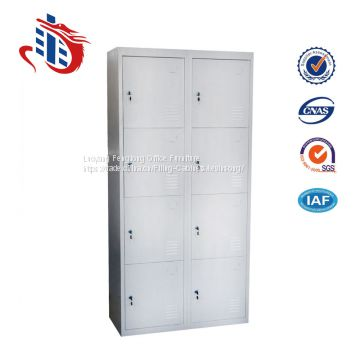 Iron almirah design 8 door dressing room metal locker box