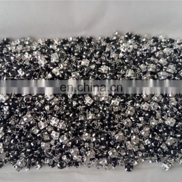 Siam Flat Back Rhinestones With Back Cross Claw Settings