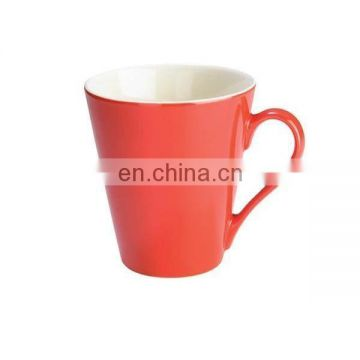 110Z V shape ceramic coffee mug cup