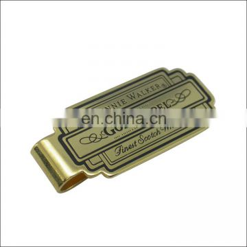 custom money clip wallet metal screwed money clip with card holder Top design Gold