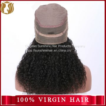 Brazilian Virgin 100% Human Hair Deep Wave Full Lace Wig