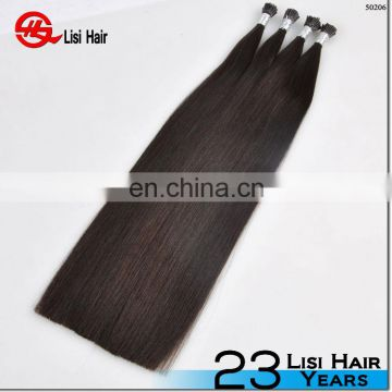 double drawn best quality european hair 2 gram i tip hair extension