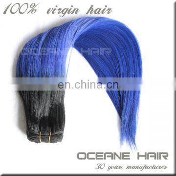 Ombre loose wave wholesale hair extensions 100% human ombre hair braiding hair