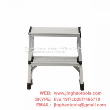 Aluminum double sided ladder 2 steps