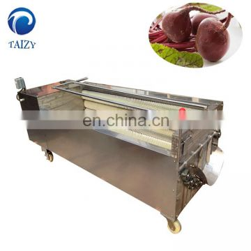 Taizy potato washing peeling cutting machine brush type cleaning machine