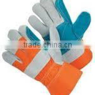 LESAFETY full palm cow split leather working gloves for wholesale /industrial leather gloves / leather