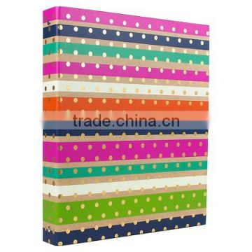 ring hard cover binder witn colorful pattern