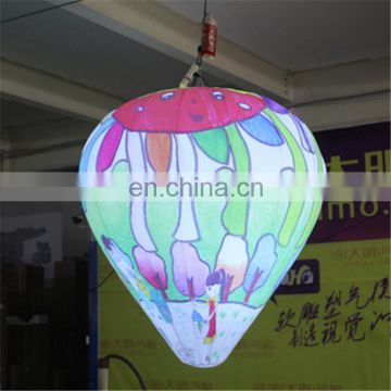 2017 new dasign hanging out of shape scrawl balloon with LED light for sale
