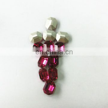 Nice Color Fuchsia Crystal Oval Fancy Loose Stone Beads