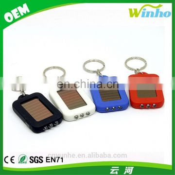 Winho Portable 3 LED Flashlight Solar Powered Keychain