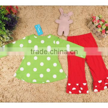 2015 Exclusive Children Clothes Set Long sleeve Reindeer Cotton T-shirt With Pants Set Toddlers Baby Girls Christmas Outfits
