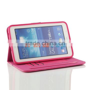 Wholesale Colored Leather Case For Samsung Galaxy Tab 3 Lite 7.0 inch T110 T111 Flip Cover TPU Protective Book Case