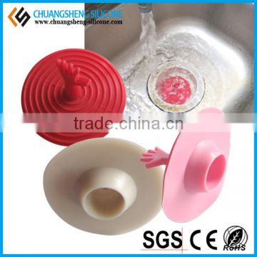 Funny shape fruits washing sink drain silicone plug