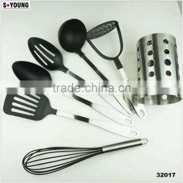32017 7PCS NYLON KITCHEN TOOLS WITH S/S STAND