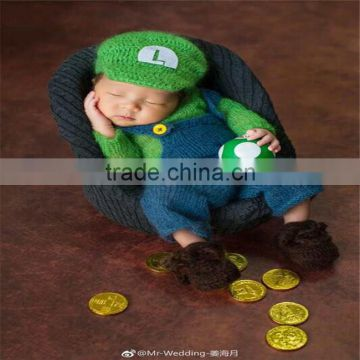6812a9fc1c1 Knit Newborn Baby Cap and Romper Set Crochet Bonnet and Pants Mohair Girl  Photography Props of Photo Props from China Suppliers - 157130614