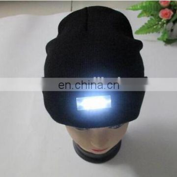 5 led lamp cap hat heat preservation maintenance mountaineering night fishing with lamp knitted cap
