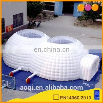 2017 good selling new products double round inflatable tent for party