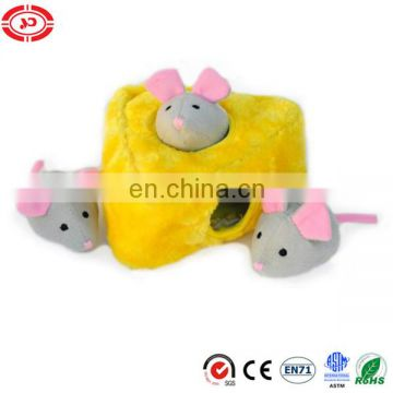 Yellow house hiden mouse tiny cute pet toy belong to dog