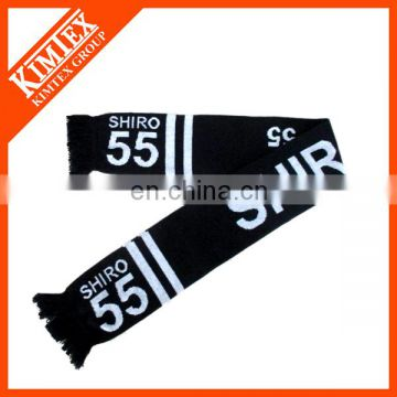 Acrylic knit jacquard football scarf