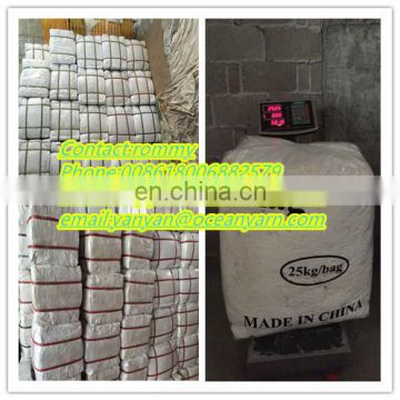 China recycled wiping rags cuting white cotton wiping rags in bale