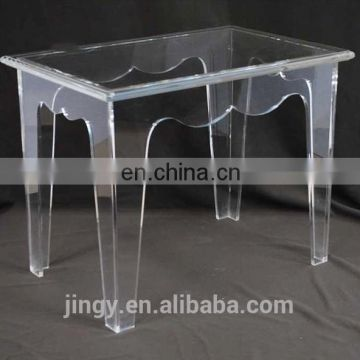 custom high quality transparent clear acrylic bathroom vanity stool