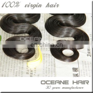 High quality hair extension most popualy fumi hair sample support 100% unprossed peruvian virgin hair