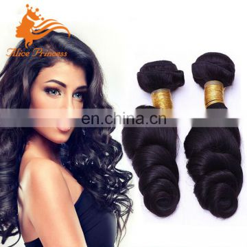 "Loose Wave Alice Princess Cambodian Human Hair Weave Bundles Remy Human 100Grams Per Piece 10-30"" In Stock"