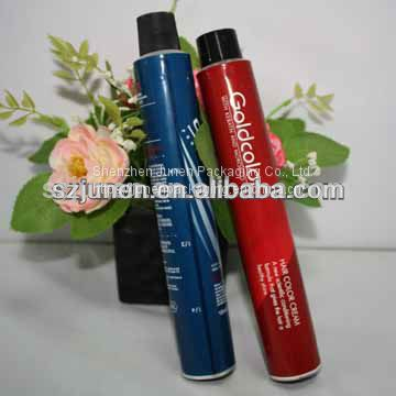 Aluminum Squeeze Hair Colorant Packaging Tube