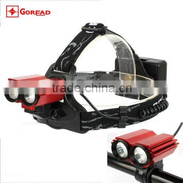 Goread T10 head lamp 18650 high bright bicycle light headlamp