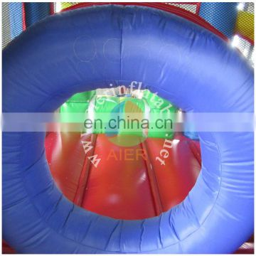 2016 Aier hotsell colorful pvc giant rainbow inflatable castle warter slide