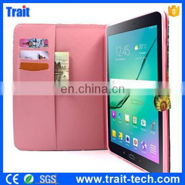 Wallet Style Magnetic Flip Stand TPU+ PU Leather Case For Samsung Galaxy Tab S2 9.7