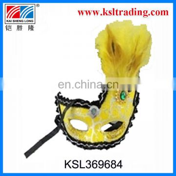 promotional and popular party feather mask