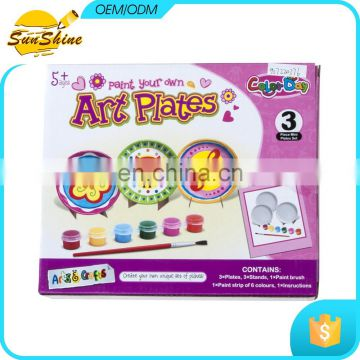 Competitive price DIY Coloring Painting Plate Kits Design Your Own Plate Sets