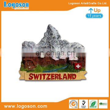 High Level Switzerland Snow-capped Mountains Souvenirs Fridge Magnets Resin