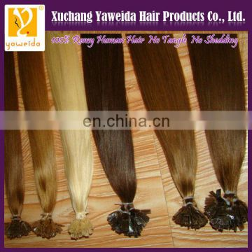 high quality blonde russian hair hot sale pre-bonded hair extenison